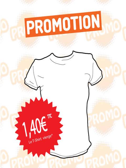 Lot de 600 t shirts vierges coloris blanc 100% coton Taille XL - XXL sans impression au prix unitaire de  1,40€ TTC soit le lot à 840€ TTC  Valable dans la limite des stocks  Modalités et conditions de l'offre disponibles à l'atelier  Plus d'info. au 0596 61 07 76